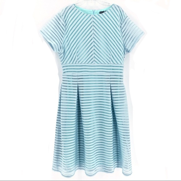 bbf2415c85439 ASOS Dresses & Skirts - BooHoo Robins Egg Blue Midi Mesh Skater Dress - 14
